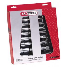 Jeux de clés à pipe débouchées 10 pièces KS TOOLS