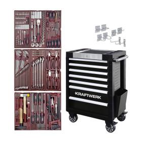 Servante d'atelier TRIO 7 tiroirs - Composition pour servante d'atelier 191 pièces KRAFTWERK