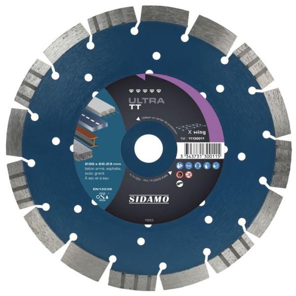 Disque Diamant à segment 115 mm ULTRA TT Tronçonnage béton SIDAMO