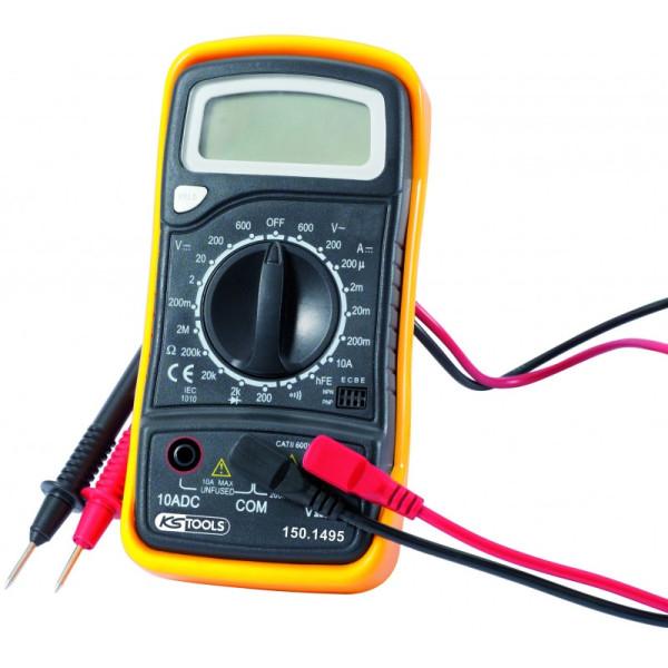 Multimètre digital livré avec des pointes d'essai KS TOOLS