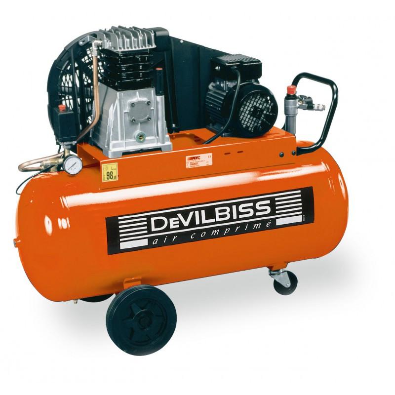 Compresseur d'air à piston 3 Cv 90L marche lente DEVILBISS