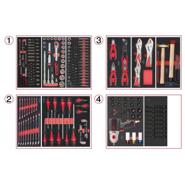 Composition d'outils 4 tiroirs pour servante, 263 pièces KS TOOLS