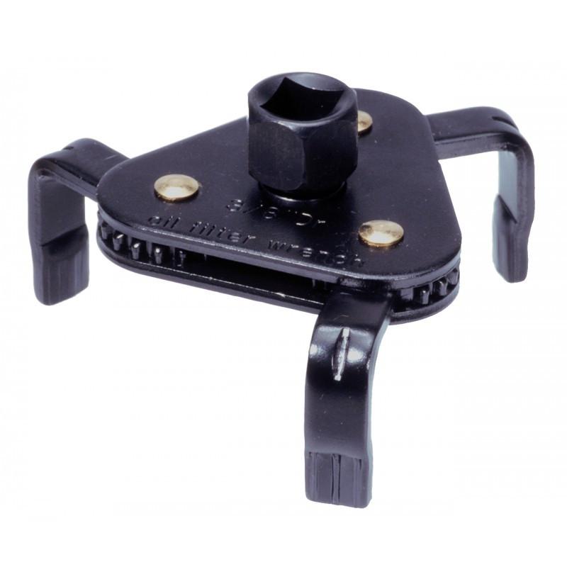 Clé de filtre à huile 3 bras auto-réglables avec adaptateur 65 -120 KS TOOLS