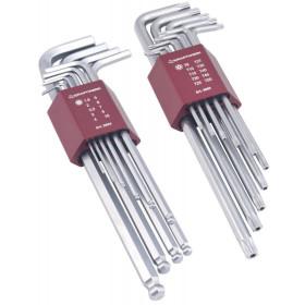 Jeu de 2 assortiments de clés mâles coudées montures en aluminium Kraftwerk