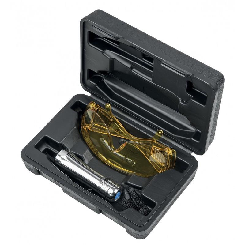 Coffret de lampe de poche UV de détection de fuites pour climatisation KS TOOLS