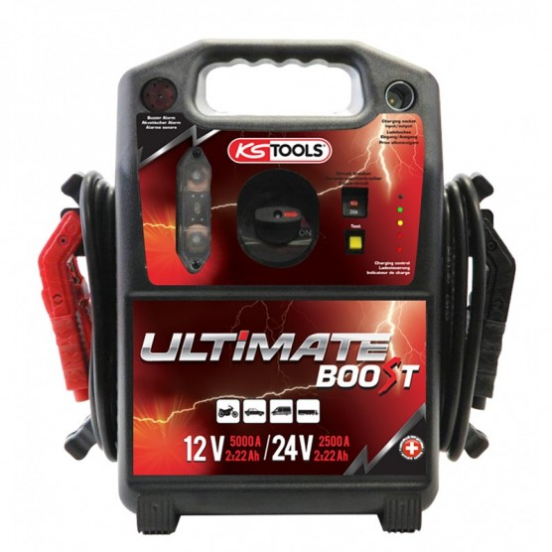 Booster à batterie 12V/24V  5000 / 2500 A KS TOOLS