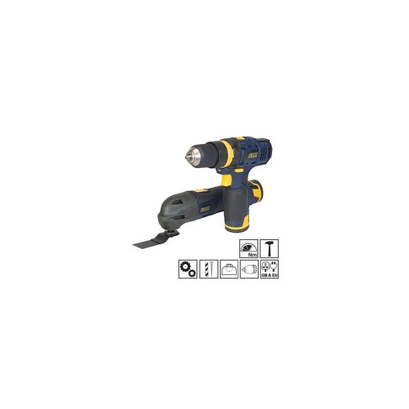 Ensemble outils multifonctions et perceuse-visseuse 12 V GMC