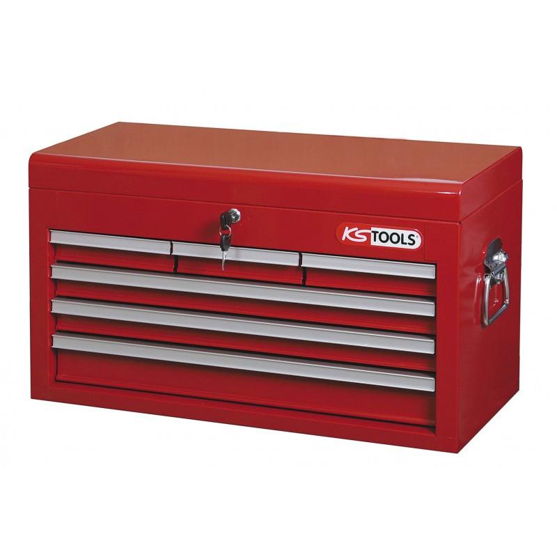 Coffret à outils 6 tiroirs avec compartiment supérieur KS TOOLS