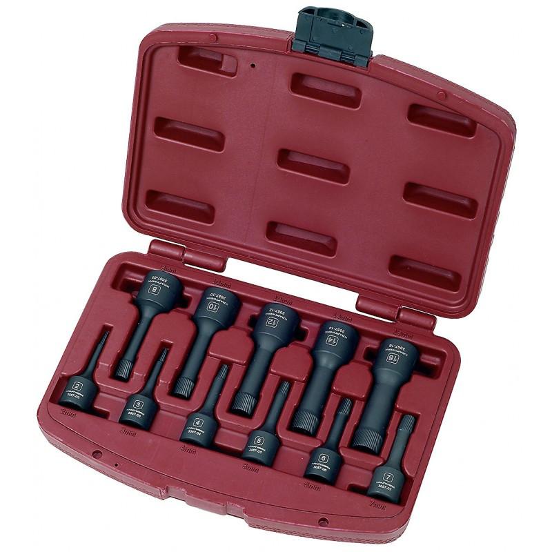 Coffret 11 pièces d'extracteurs à spirales de boulons 2-16 mm KRAFTWERK