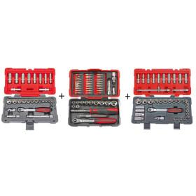 """Pack coffrets de douilles et accessoires ULTIMATE 3/8"""", 1/2"""", 1/4"""" KS TOOLS"""