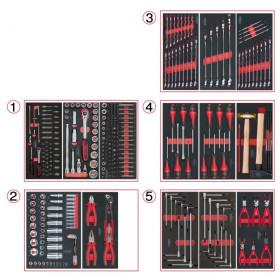 Composition d'outils 5 tiroirs pour servante, 311 pièces KS TOOLS