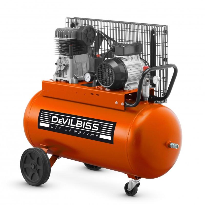 Compresseur d'air 90 L 2 Cv à piston DEVILBISS