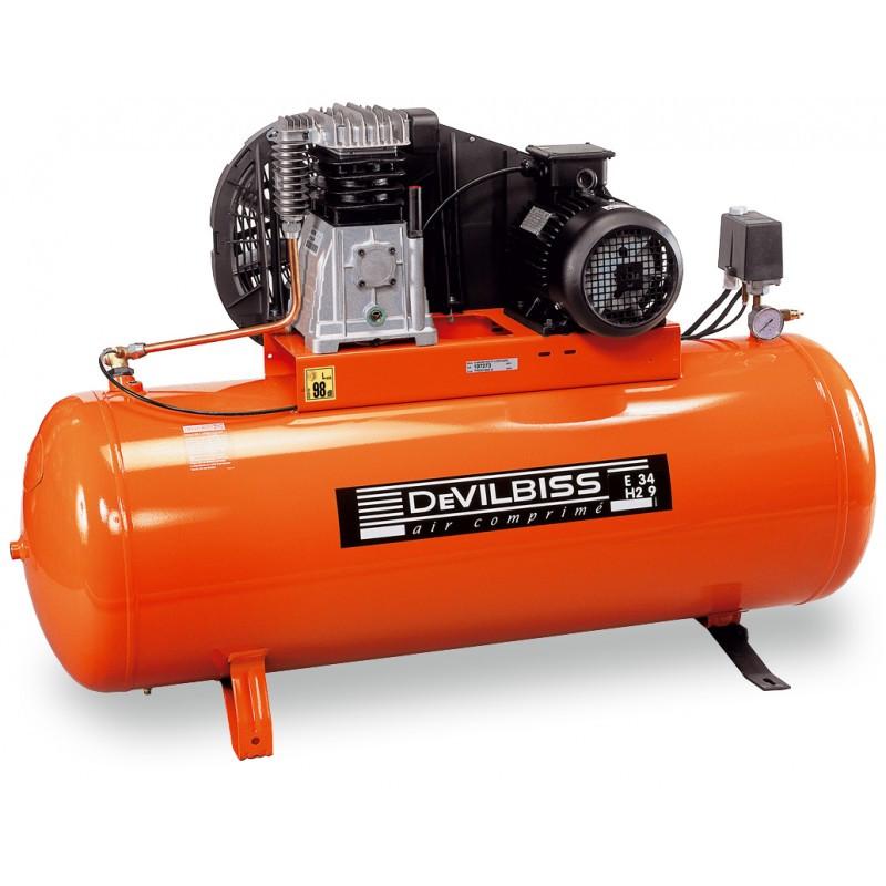 Compresseur d'air à piston 200L 4 Cv DEVILBISS