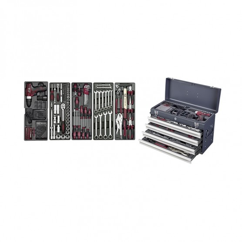 Coffret 146 outils 4 tiroirs KRAFTWERK