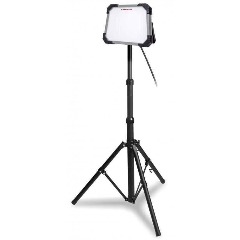 Lampe de travail LED 2500 Lumen avec trépied télescopique extensibleKRAFTWERK
