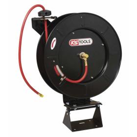 "Enrouleur de tuyau d'air 20 mètres Ø 13 mm avec adaptateur 1/2"" KS TOOLS"