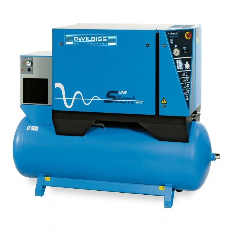 Compresseur à piston silencieux 5,5 Cv 500L Bi-étages DEVILBISS