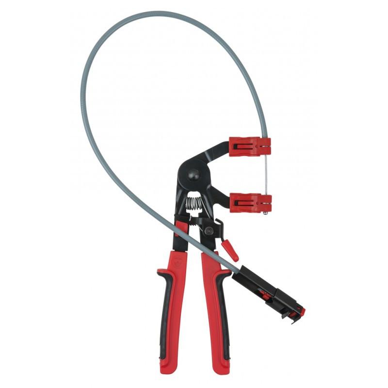 Pince pour colliers auto-serrants avec câble bowden KS TOOLS