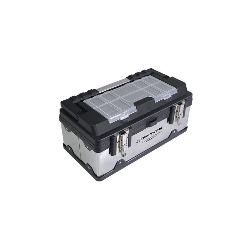 Boite à outils en acier inoxydable 400 x 230 x 200 mm KRAFTWERK