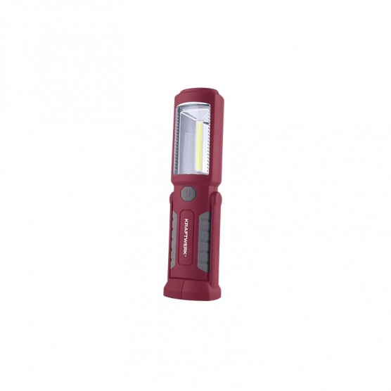 Lampe de poche à accu rechargeable LED COB + 3 LED KRAFTWERK