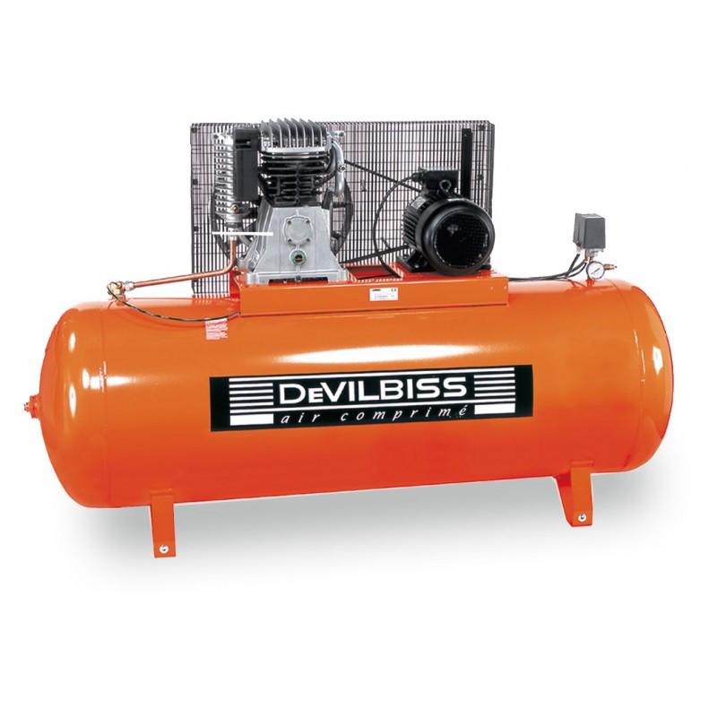 Compresseur d'air à piston marche lente 5.5 Cv 500L bi etages DEVILBISS