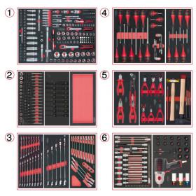 Composition d'outils 6 tiroirs pour servante, 429 pièces KS TOOLS