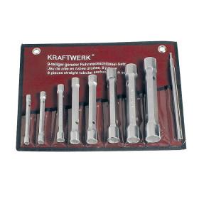 Jeu de clés en tube droites 9 pièces 6-22 mm KRAFTWERK