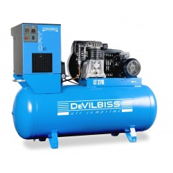 Compresseur d'air à piston 5,5 Cv 270L bi étages DEVILBISS