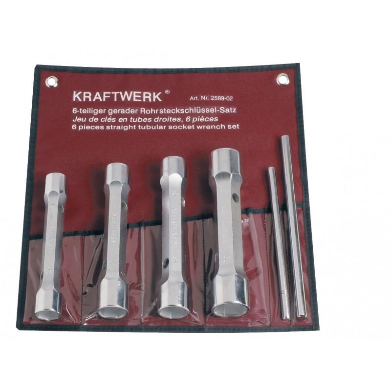 Jeu de clés en tube droites 21-32 mm 6 pièces KRAFTWERK