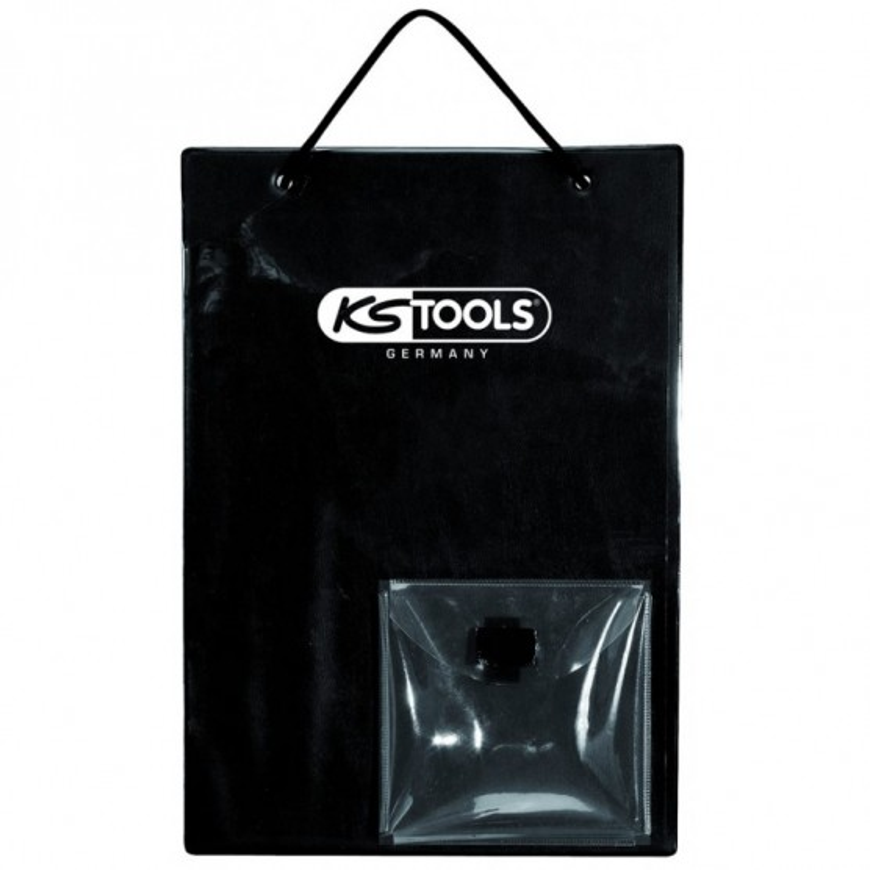 Tablettes de fiche de travaux A4 avec sacoche pour clés noir KS TOOLS