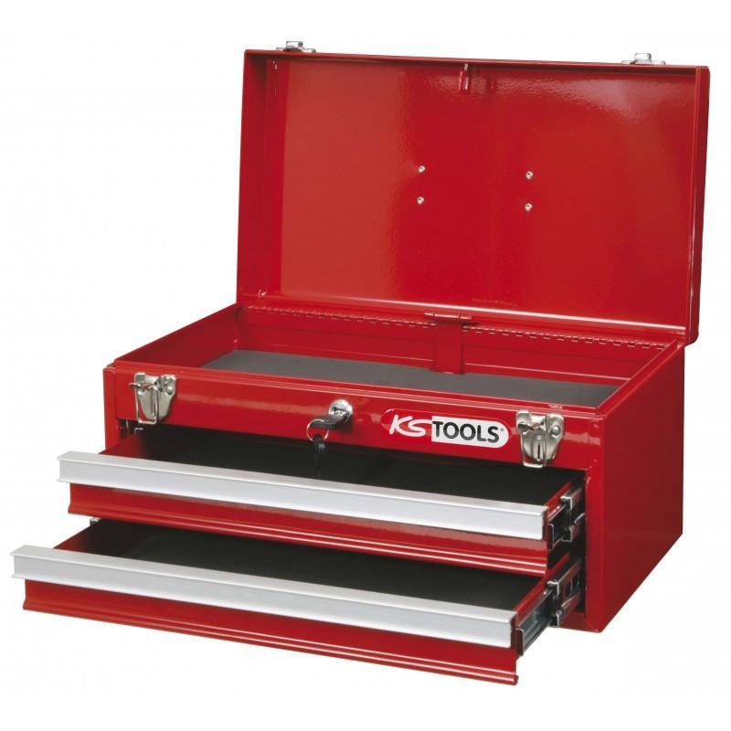 Coffret à outils 2 tiroirs avec compartiment supérieur KS TOOLS