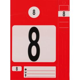 Jeu d'étiquettes et porte clés rouge KS TOOLS