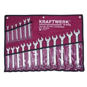 Jeu de clés combinées universelles Combi dans Canvas 18 pièces KRAFTWERK