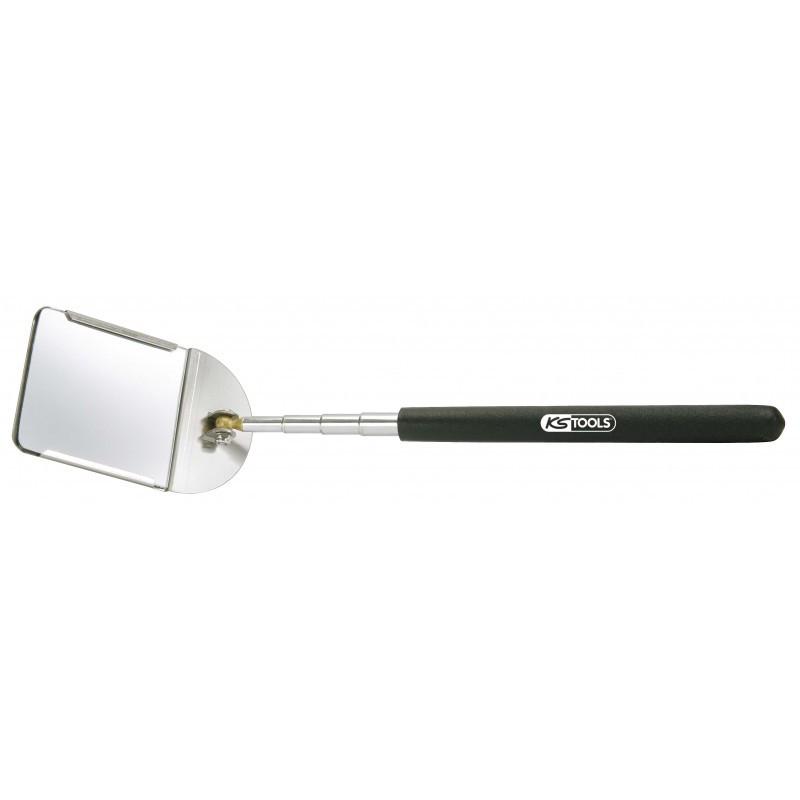 Miroir télescopique avec porte miroir en acier, 57 x 63 KS TOOLS