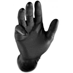 Gants jetables en nitrile Grippaz noirs, 50p KRAFTWERK