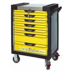 Servante 7 Tiroirs ULTIMATE Jaune et Grise KS TOOLS