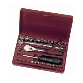 """Coffret de douilles, cliquet et accessoires 36 outils 1/4"""" KRAFTWERK"""