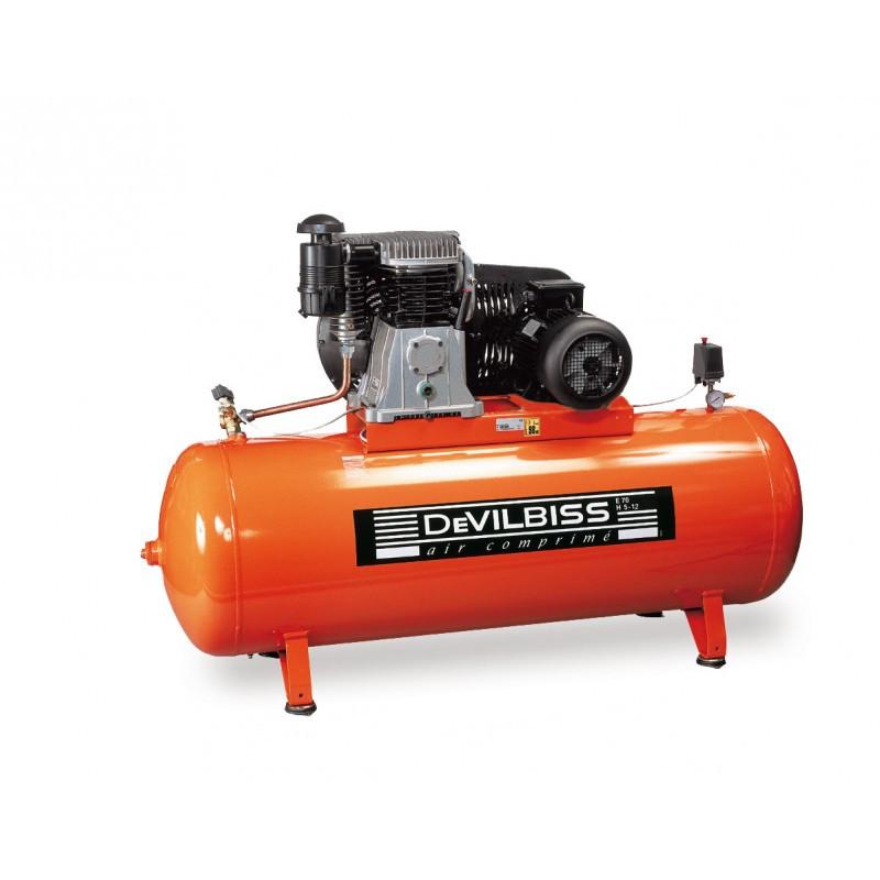 Compresseur d'air à piston 500L 10 Cv DEVILBISS
