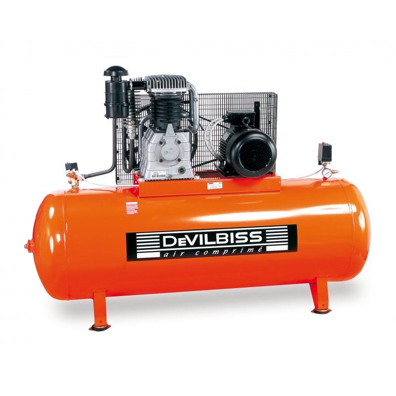 Compresseur d'air à piston marche lente 10 Cv 500L DEVILBISS