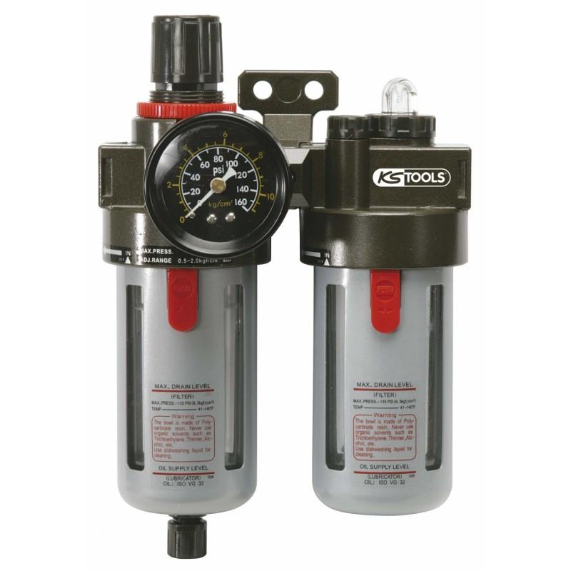 """Filtre régulateur et lubrificateur 3/8"""" KS tools"""