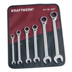Jeu de clés combinée à cliquet 6 pièces KRAFTWERK