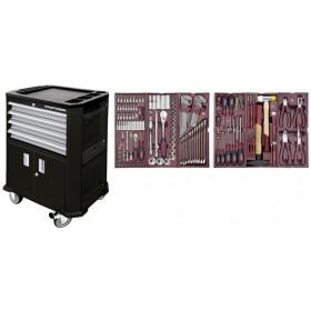 Servante d'atelier avec double porte + 4 tiroirs  + Composition pour servante d'atelier 150 pièces KRAFTWERK  KRAFTWERK