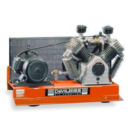 Compresseur d'air à piston marche lente 10 Cv - Plateau  DEVILBISS