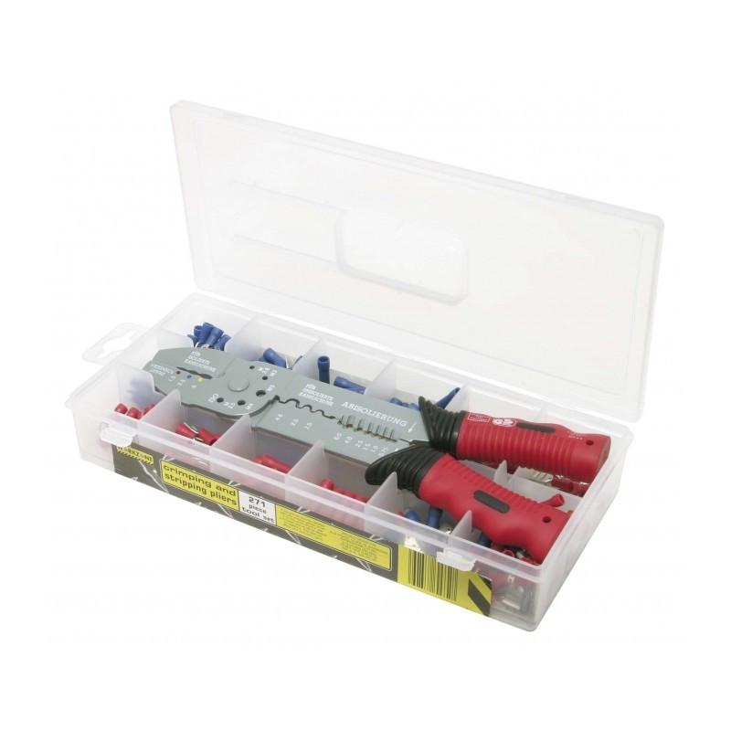 Coffret de Pince à sertir standard pour cosses pré-isolées et 270 cosses KS TOOLS
