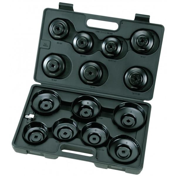 Coffret de 15 cloches pour filtres à huiles 65-100 mm KRAFTWERK