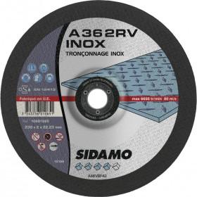 Boîte 50 disques 76mm SIDAMO A36 2RV Tronçonnage Acier/Inox pour machines pneumatiques
