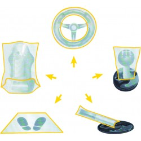 Lot de10 Kits de protections plastiques pour habitacle KS TOOLS