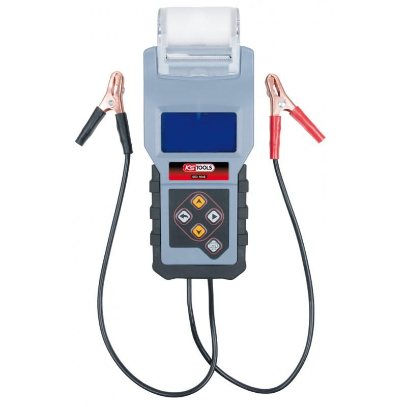 Testeur digital 12V de batterie et circuit de charge avec imprimante intégrée KS TOOLS