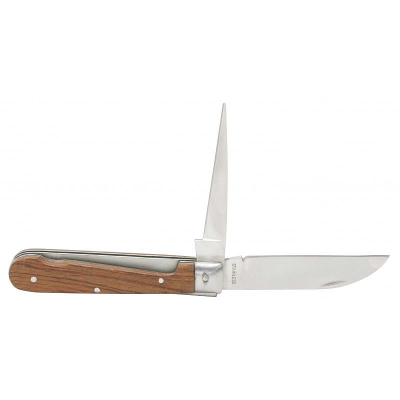 Couteau d'électricien à lame droite et poinçon KS TOOLS