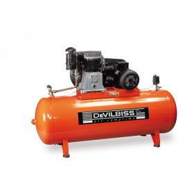 COMPRESSEUR PISTON Bi-Etagé 400V 10 CV Cylindre en fonte Réservoir 500L DEVILBISS